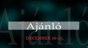 Műsoraink december 16-23.