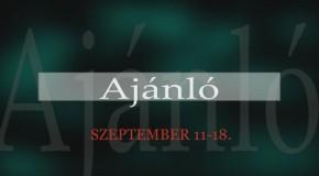 Műsoraink szeptember 12-étől