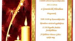 Adventi koszorú készítés és kiállításmegnyitó Szentivánon