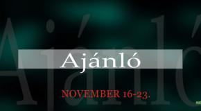 Műsoraink november 16-23.