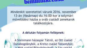 Sváb családi zenekarok találkozója Solymáron