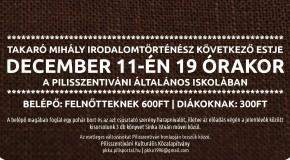 Irodalomtörténeti est Pilisszentivánon