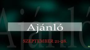Műsoraink szeptember 21-28.