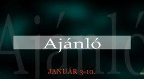 Műsoraink január 3-10.