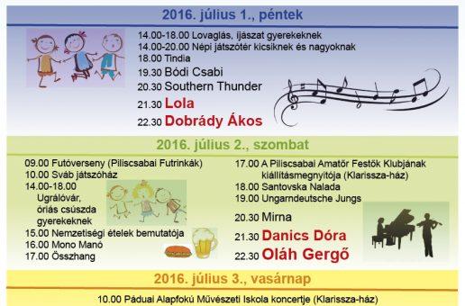 II. Piliscsabai Müvészeti Fesztivál és Csaba-Nap
