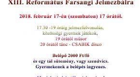 XIII. Református Farsangi Jelmezbál Piliscsabán