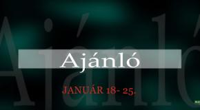 Műsoraink január 18-25.
