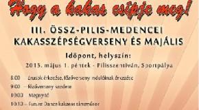 III. Össz-Pilis-medencei Kakasszépségverseny és Majális