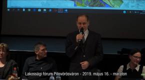 Lakossági fórum Pilisvörösváron – maraton