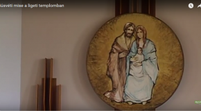 Húsvéti mise a ligeti templomban