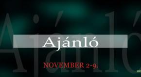 Műsoraink november 2-9.