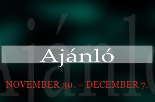 Műsoraink november 30.-december 7.