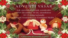 Adventi vásár a piliscsabai kézimunka szakkör portékáiból