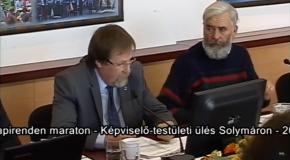 Képviselő-testületi ülés maraton – Solymár 2018.02.28.