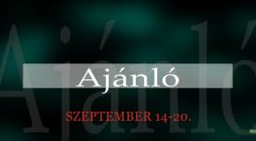 Műsoraink szeptember 14-20.