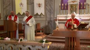Virágvasárnapi szentmise Vörösváron